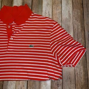 Lacoste short sleeve polo sz 5/lg
